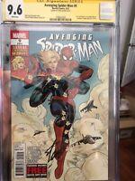 🔥AVENGING SPIDER-MAN #9 CGC SS 9.6 NM 1st STAN LEE Carol Danvers CAPTAIN MARVEL