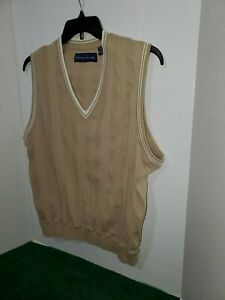Nicklaus Mens Golf Sweater Size Large Pull Over V Neck No Sleeves