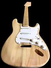 NEW 6 STRING STRAT STYLE PRO LOADED DIY MAPLE ELECTRIC GUITAR BUILDER KIT
