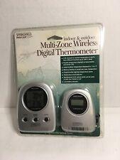 Springfield,Multi-Zone Wireless Digital Thermometer.Indoor & Outdoor. New.