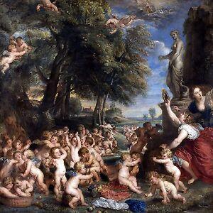 Worship of Venus amour P. Rubens Tile Mural Kitchen Backsplash Marble Ceramic