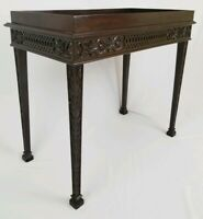 Vintage Louis XV Carved Mahogany Tray Top Table Hall Entryway Console