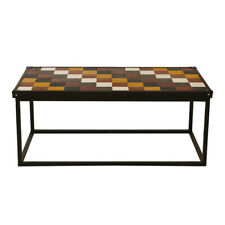 Leather Top MS Stand Coaster Coffee Table