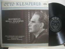 Beethoven Missa Solemnis, Klemperer & Vienna Sym *Vox PL 11.430 mono