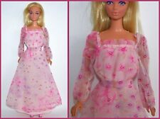 Barbie DOLL Tagged FASHION by Mattel Pink Floral GOWN 1979 Kissing Barbie #2021