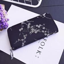 Women Lady PU Leather Long Wallet Flower Card Cash Holder Purse Clutch Handbag