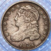 "1834  ""LARGE 4"" CAPPED BUST DIME!"