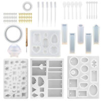 76Pcs Silicone Jewelry Making Resin Molds Pendant Tool Casting Mould DIY Craf WG
