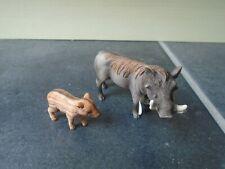 Lot 20 - Schleich Wild Boar & Baby Piglet Animal Figures
