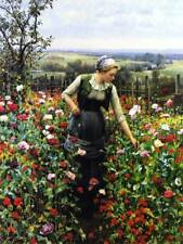 Ladies in Poppy Garden by Daniel Ridgeway Knight
