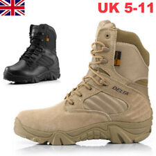 Men Military Tactical Boots Desert Combat Army Hiking Travel Botas Shoes Size UK