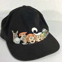 Jetsons Snapback Vintage Hat Baseball Cap Warner Bros Black Embroidered Rare