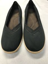 Grasshoppers Size 9W Black Stretchy Wedge Loafer