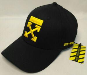 Off White Baseball Hat Adjustable Cap Black NWT
