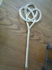 """24.5"""" Rattan Wicker Reed Rug Carpet Beater Wheat Color"""