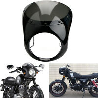"Moto Fumée Café Racer 7"" phare Carénage guidon Pare-Brise Pour Honda Suzuki"
