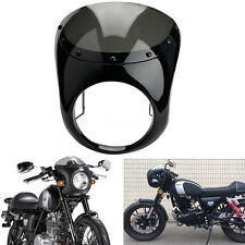 "7"" Moto Fumée Café Racer phare Carénage guidon Pare-Brise Pr Harley Honda Suzuki"