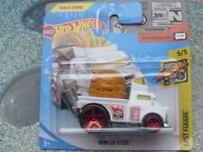 Hot Wheels 2018 #237/365 BUNS OF STEEL white Fast Foodie New casting 2018