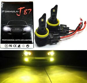 LED Kit M10 100W H9B 3000K Yellow Two Bulb Head Light High Beam Replacement Lamp