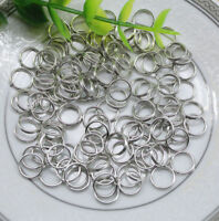 100pcs 8mm Metal Round Split Rings Small Double Ring For Jewelry Making DIY