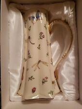 Rare Burton & Burton Pitcher w/ Gold, Flowers, Butterflies, Bees, Ladybugs