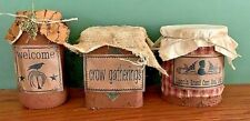 Primitive Pantry Jar/Tin Grubby Country Cupboard Early Look Homestead