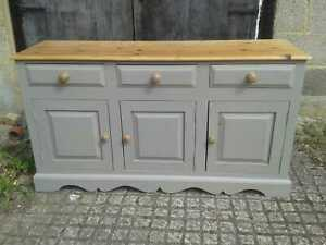 A 5ft Country Pine & Painted Sideboard Dresser Base Cupboard