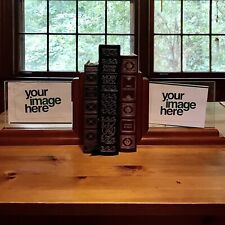 Wooden Picture Frame Bookends Set Of 2 Glass Holder