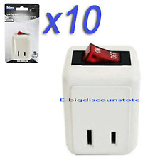 10 Pcs WALL TAP SWITCH Electrical Plug Outlet ON/OFF w/LED Power Indicator Light