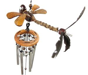Dragonfly Wind Chimes Handmade Hanging Animal Mobile Spinner Porch Patio Garden
