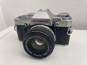 Olympus OM30 Film Camera & Olympus 50mm F1.8 Lens, Focus, Good Clean Condition,