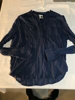 Aeropostale Womens XL Blue  Button Up Shirt Free Shipping