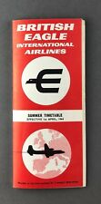 BRITISH EAGLE AIRLINE TIMETABLE SUMMER 1964 INTERNATIONAL AIRLINES