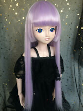 1/8 1/6 1/4 SD10 1/3SD&Uncle BJD Wig Neat Bangs&Temples Long Straight Doll Hair