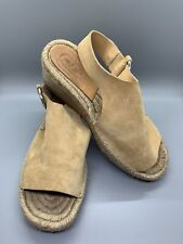 Rag & Bone Taupe Calla Leather Wedge Espadrille Sandals Womens 35 US 5