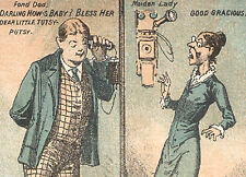 TAUNTON MA TRADE CARD, ANTIQUE WALL PHONES, GLENWOOD RANGES, PARLOR STOVES  Z133