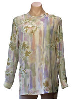 BERNINI SIZE 10 BLOUSE  MADE IN AUSTRALIA