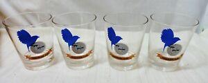 NIB SPALDING HOLE IN ONE CLUB BLUE BIRD DRINKING GLASSES LOWBALL