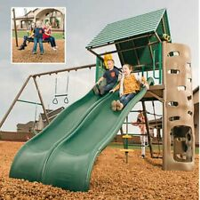 Lifetime Lookout Double-Slide Swing Set, Clubhouse with Hardtop Roof