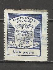 7196-SELLO ESPAÑA GUERRA CIVIL FISCAL EXACCIONES LOCALES,SELLO MUNICIPAL,1 PTS