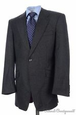 RICHARD JAMES Savile Row Gray FLANNEL WOOL Dual Vent Jacket Pants SUIT - 40 R