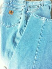 MEN'S CARHARTT RELAXED FIT STRAIGHT leg  JEANS SIZE 40 X 30 preowned
