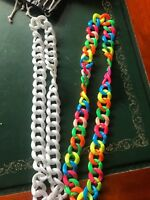 CHUNKY NEON NECKLACES    MANY COLOURS      EARRINGS ARE ALSO AVAILABLE