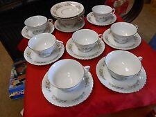 Vintage KRAUTHEIM Selb Bavaria  Cellini WOODFIELD-.8 Cups & Saucers-3 FREE Sauce