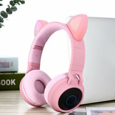 Cuffie microfono CAT EAR wireless bluetooth 5.0 micro sd regalo ragazze BT028C