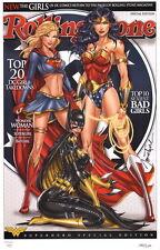 Jamie Tyndall SIGNED DC Comic Art Print Wonder Woman Supergirl Batgirl LE of 150