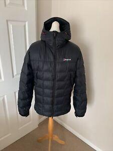 Men's Black Berghaus Popena Down Filled Jacket Size Large