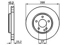 Bendix Front Vented Brake Disc - 288mm Mercedes-Benz SLK(R170) 1996-2011