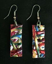 Rectangle Multicolor Bohemian earrings