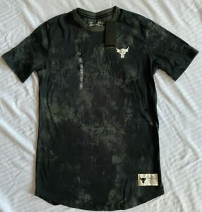Under Armour Men's Project Rock Veteran's Day Allover Print T-Shirt Sz. MD NWT